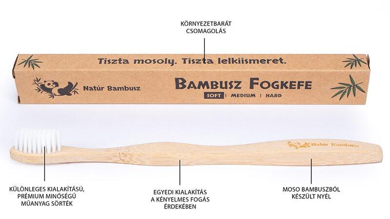 moso bambusz fogkefe