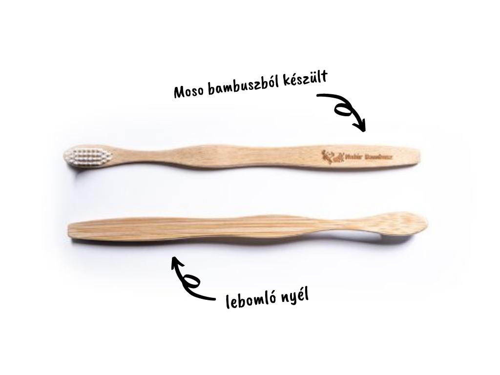 lebomló bambusz fogkefe
