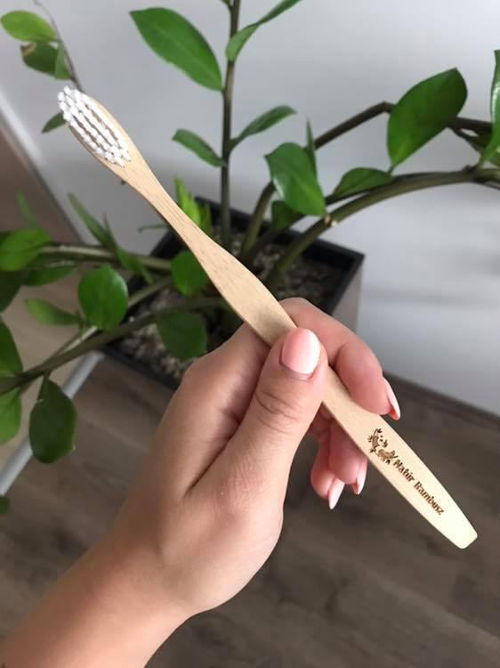 vegán bambusz fogkefe